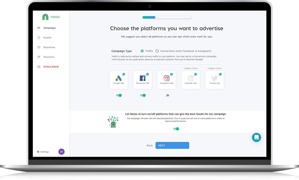 Nanos AI campaign type